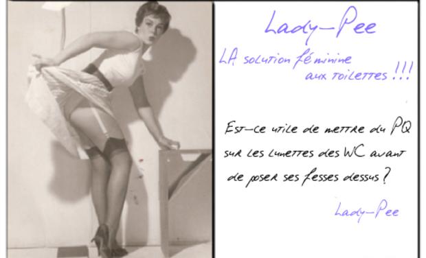 Project visual Lady-Pee: La solution féminine aux toilettes !!!
