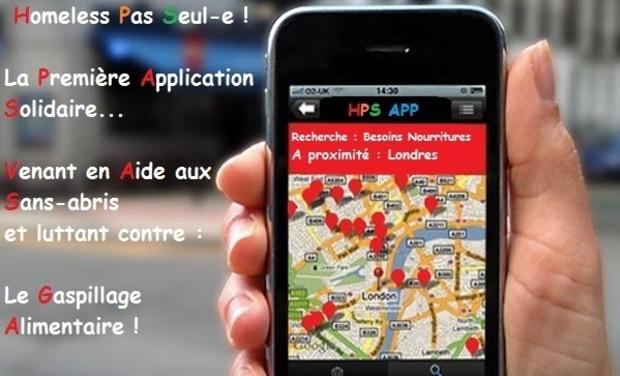 Visueel van project Homeless Pas Seul(e), l'Application Solidaire !