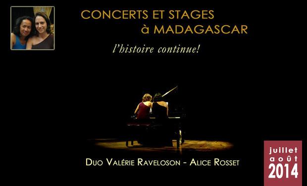 Visuel du projet Concerts/stages à Madagascar - L'histoire continue !