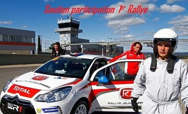 Visuel du projet Aidez un jeune pilote prometteur à rentrer dans le monde du Rallye