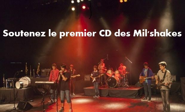 """Visuel du projet le premier CD des """"Mil'Shakes"""""""