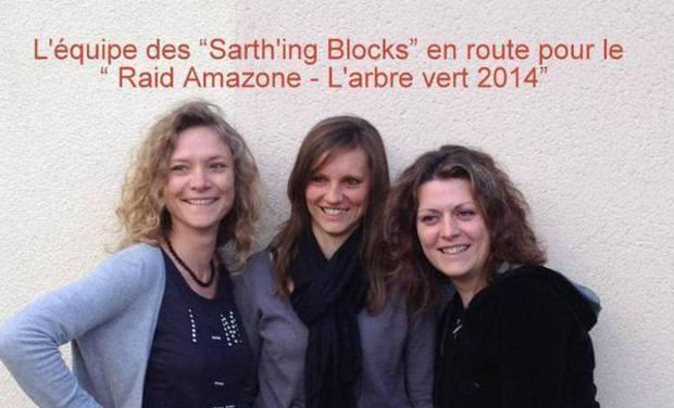 Project visual L'equipe des Sarth'ing Blocks au Raid Amazone en 2014