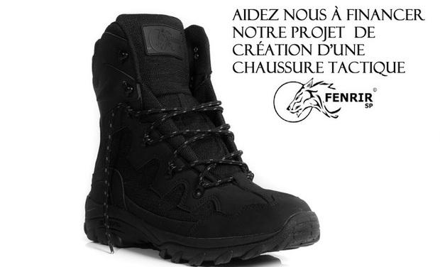 Visuel du projet Création d'une chaussure tactique Fenrir SP
