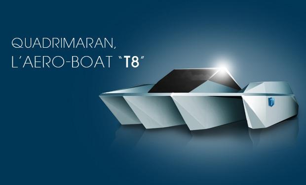 Project visual Quadrimaran, l'aero-boat