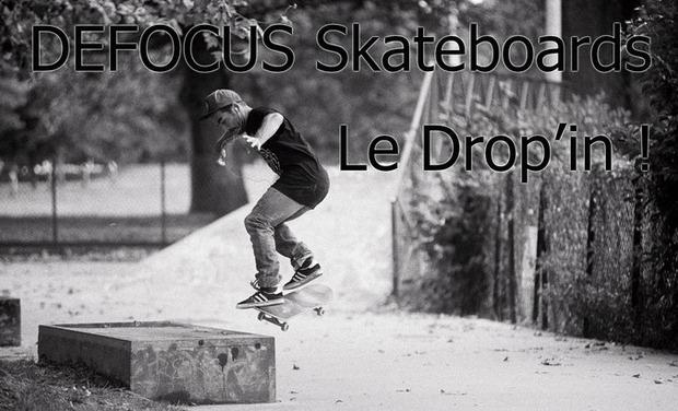 Project visual Defocus Skateboard, Le drop-in!