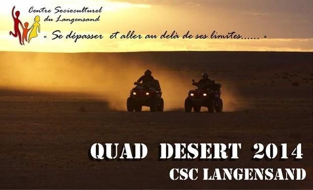 Visuel du projet Desert Quad & jeunes en rupture