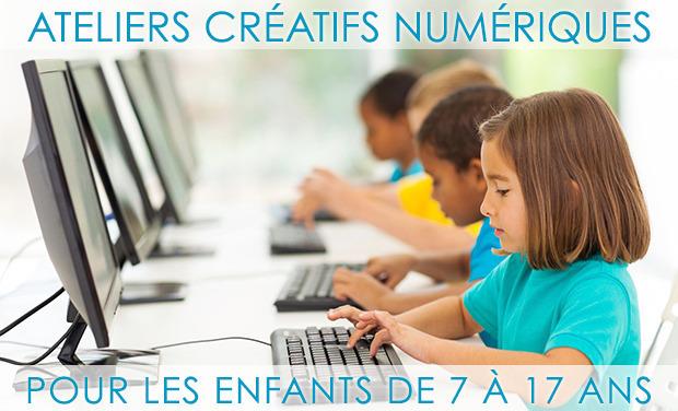 Visuel du projet Ateliers créatifs numériques pour les 7-17 ans  Creative computing workshops for kids & teens