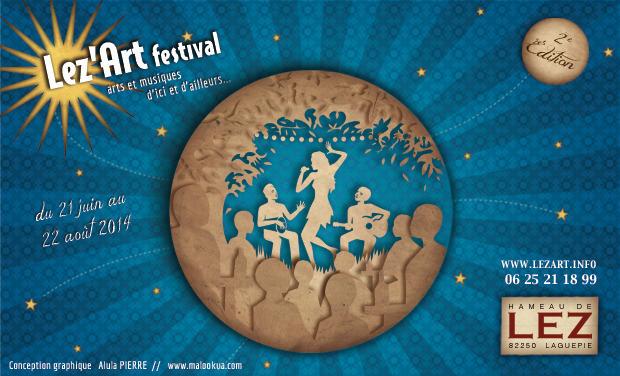 Visueel van project Lez'Art Festival - seconde édition