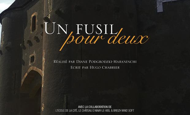 """Visuel du projet Court-métrage """"Un Fusil pour deux"""" - Ecole de Luc Besson"""