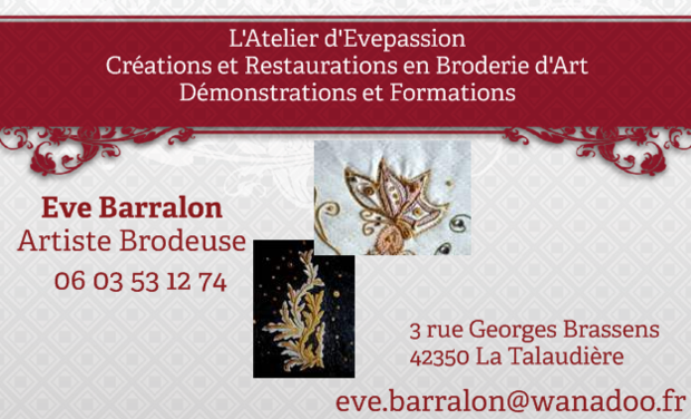 Project visual Ouverture de L'Atelier d'Evepassion / Broderies d'art