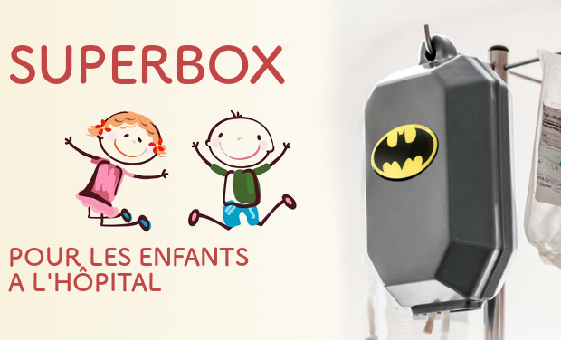 Visuel du projet SuperBox - Cache perfusion pour les enfants hospitalisés