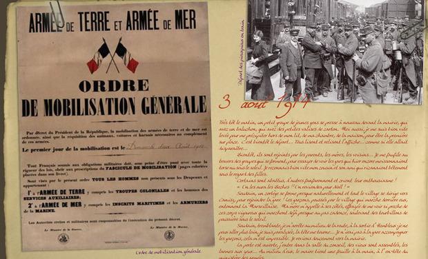 Visueel van project 1914-1918 : Journal de Jeanne