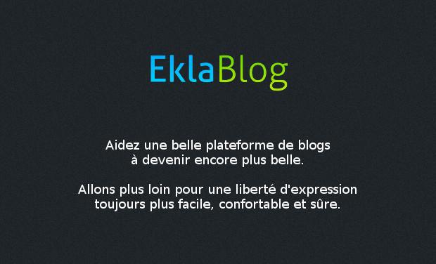 Visuel du projet EklaBlog, bloguez librement
