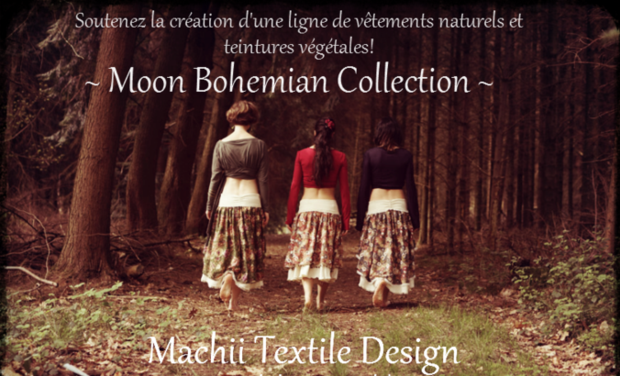 Visuel du projet Machii Création textile - Collection Moon Bohemian organic clothes and natural dye