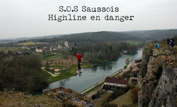 Visuel du projet S.O.S Saussois - Highline en danger