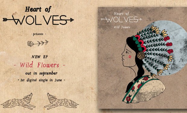 "Visuel du projet Heart of Wolves - Nouvel EP ""Wild Flowers"""