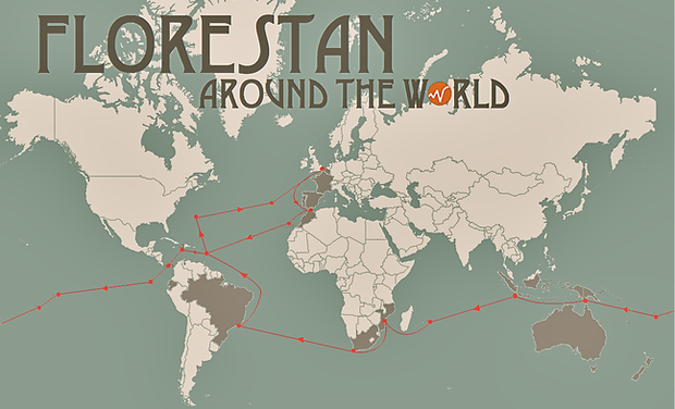 Visueel van project Florestan around the world