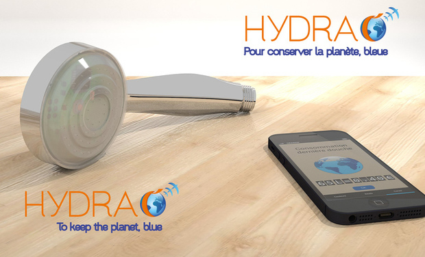 Project visual Hydrao, la douche intelligente / the smart shower