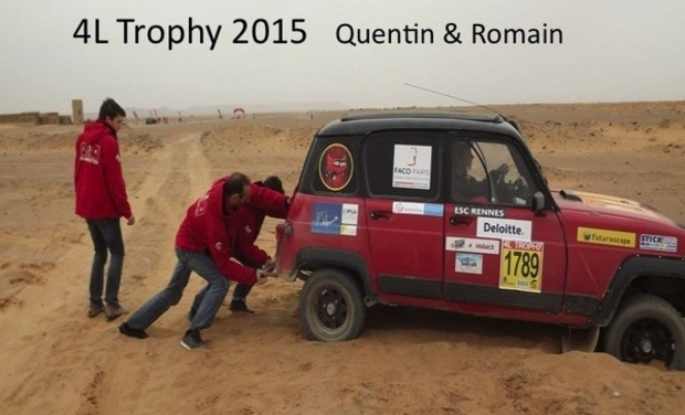 Project visual Rallye raid étudiant humanitaire 4L Trophy 2015