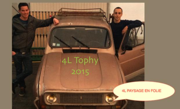 Project visual 4L trophy notre première envole humanitaire