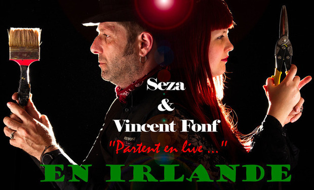 Project visual Seza et Vincent Fonf partent en live...