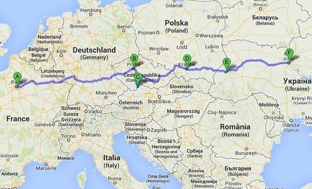 Visuel du projet Paris-Kiev en stop
