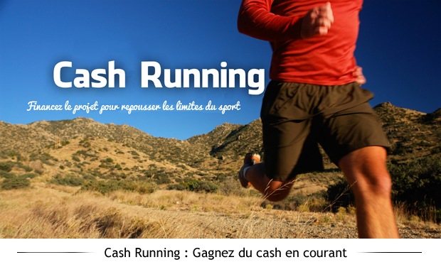 Project visual Cash-running : gagnez du cash en courant