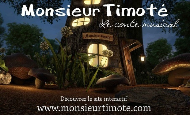 Visueel van project Monsieur Timoté, le conte musical au OFF 2014!
