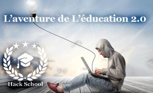 Visueel van project Hack School, l'éducation 2.0