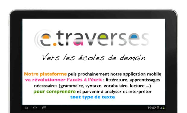 Visueel van project e-traverses, vers les écoles de demain