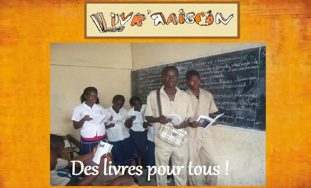 Visuel du projet Bibliothèque scolaire et bibliobus en Côte d'Ivoire