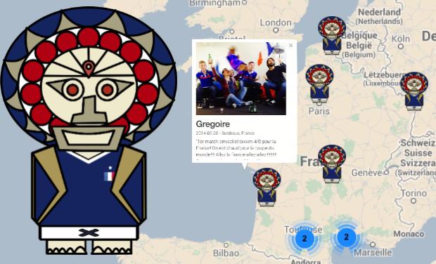 Visuel du projet Le Totem des supporters de l'équipe de France