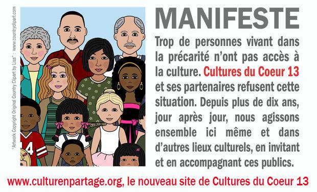Visuel du projet www.culturenpartage.org, le nouveau site de Cultures du Coeur13
