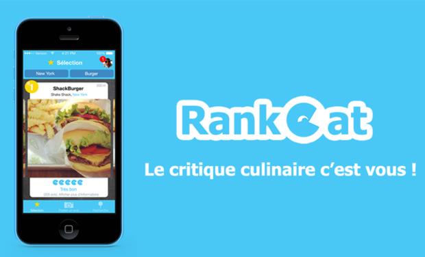 Visuel du projet Rankeat, le critique culinaire c'est vous !