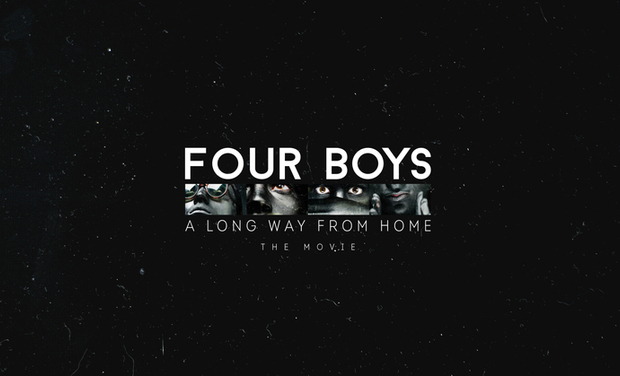 Visuel du projet Four Boys A Long Way From Home: The Road Movie