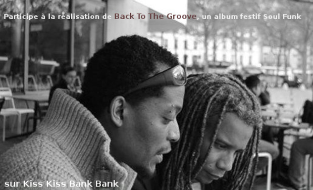 "Visueel van project Participe à la réalisation de ""BACK TO THE GROOVE"" un album festif de soul funk"