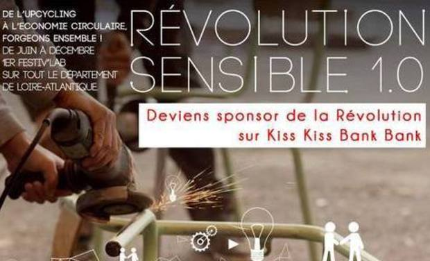 Visuel du projet Révolution Sensible 1.0 - De l'Upcycling à l'Economie circulaire, forgeons ensemble !