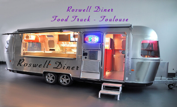 Project visual Roswell Diner Food Truck Toulouse