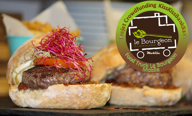Project visual Au Bourgeon Mobile, des burgers 100% Bio et Solidaires