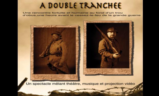 """Visuel du projet Ciné spectacle """"à double tranchée"""""""