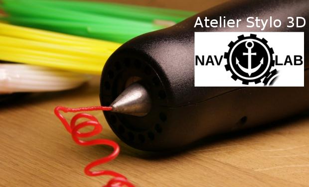 """Visuel du projet Atelier """"stylo 3D"""" au NavLab"""