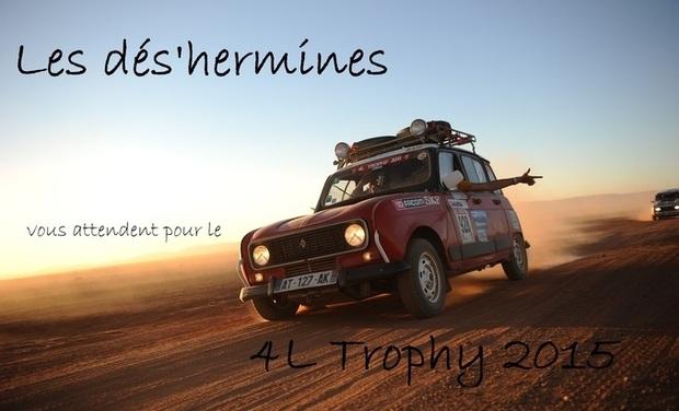 Project visual Les dés'hermines - 4L Trophy 2015