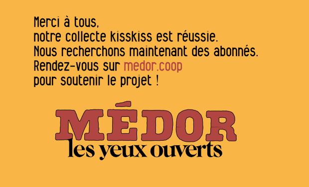 Visuel du projet Médor, le trimestriel coopératif belge d'enquêtes et de récits