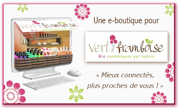 Project visual e-boutique Vert Framboise Cosmétiques Bio !