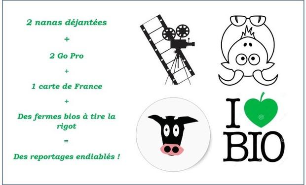 """Project visual Reportages BIO'S FAIRE """"ils sont fous ces fermiers!"""""""