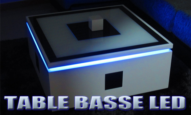 Project visual Table basse LED