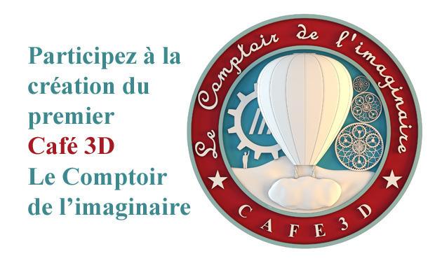 Project visual Création du premier Café 3D Le Comptoir de l'imaginaire
