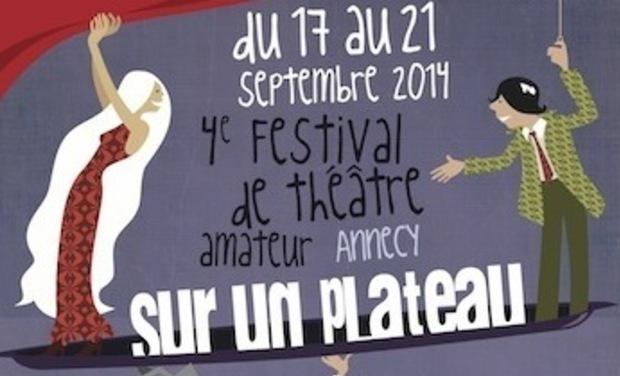 Project visual 4e Festival de théâtre amateur Sur un plateau, Annecy