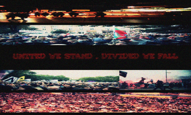 Visueel van project United We Stand, Divided We Fall