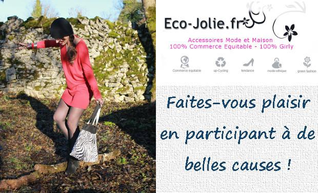 Visuel du projet Eco-jolie.fr : prouver qu'on peut-être Ethique ET Tendance